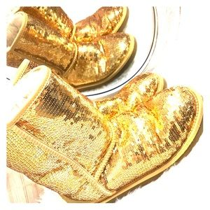 Authentic gold sequin Ugg boots